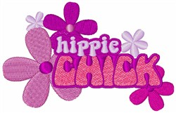 Hippie Chick embroidery design