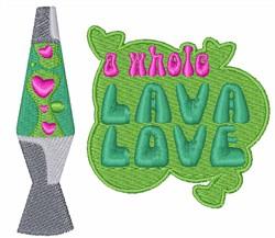 Lava Love embroidery design