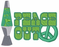 Peace Out Lamp embroidery design