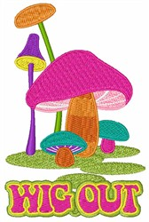 Wig Out Mushrooms embroidery design
