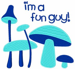 Blue Mushrooms embroidery design