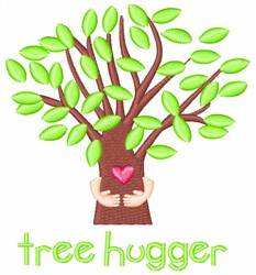 Tree Hugger embroidery design