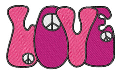 Love And Peace Signs embroidery design