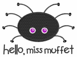 Miss Muffet Spider embroidery design