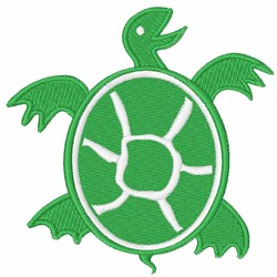 Green Turtle embroidery design