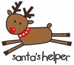 Rudolph Santas Helper embroidery design