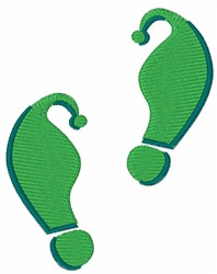 Green Elf Footprints embroidery design