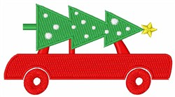 Christmas Tree Car embroidery design