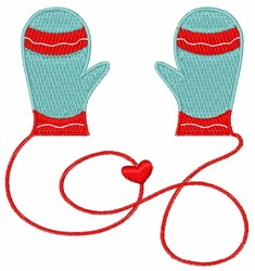 Holiday Mittens embroidery design
