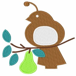 Partridge In A Pear Tree embroidery design