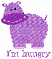 Hungry Hippo embroidery design
