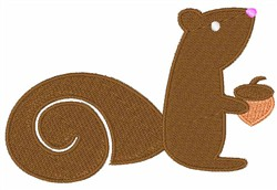 Brown Squirrel embroidery design