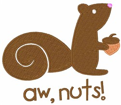 Brown Squirrel Aw Nuts embroidery design