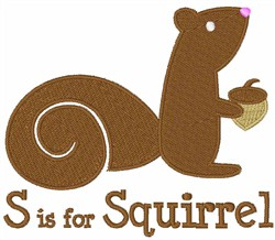 S Is For Squirrel embroidery design