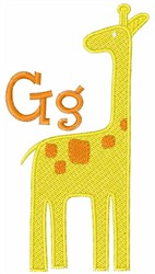 G For Giraffe embroidery design