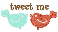 Tweet Me embroidery design