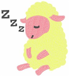 Sleeping Lamb embroidery design
