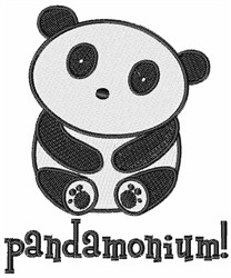 Pandamonium embroidery design