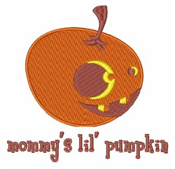 Mommys Lil Pumpkin embroidery design