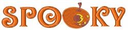 Spooky Pumpkin embroidery design