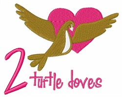 Turtle Doves embroidery design