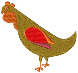 Three French Hens embroidery design