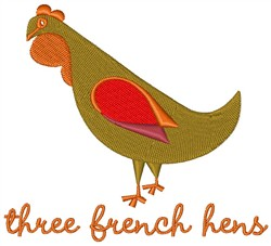 French Hens embroidery design