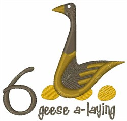 Geese A-Laying embroidery design