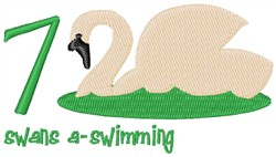 Swans A-Swimming embroidery design
