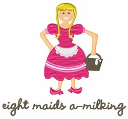 Maids A-Milking embroidery design