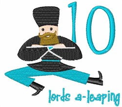10 Lords A-Leaping embroidery design