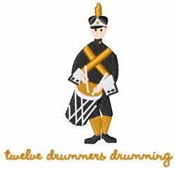 Drummers Drumming embroidery design