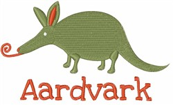 Aardvark embroidery design