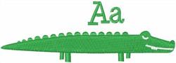 Letter Alligator embroidery design