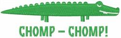 Chomp Chomp embroidery design