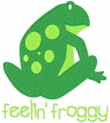 Feeling Froggy embroidery design