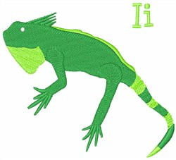 I Iguana embroidery design