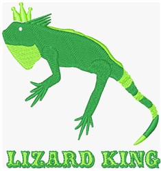 Lizard King embroidery design