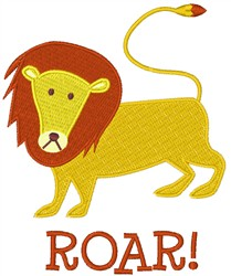 Lion Roar embroidery design