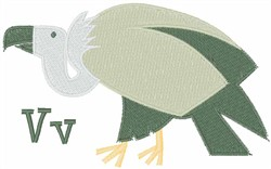 V For Vulture embroidery design