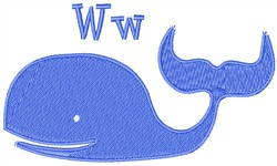 W For Whale   embroidery design