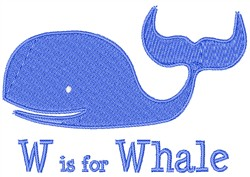 W Is For Whale embroidery design
