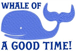Whale Of A Good Time embroidery design
