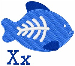 X-Ray Fish X embroidery design