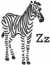 Zebra Z embroidery design