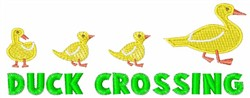 Duck Crossing embroidery design