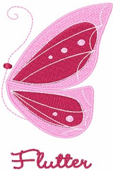 Flutter embroidery design