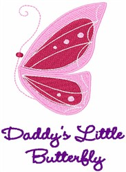Daddys Little Butterfly embroidery design