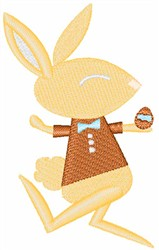 Boy Bunny embroidery design