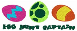 Egg Hunt Captain embroidery design